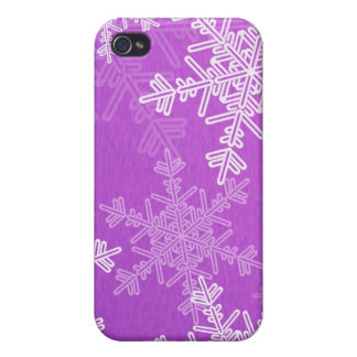Purple Snowflakes Christmas  iPhone 4G Case