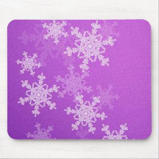 Purple Snowflakes Christmas  Mousepad