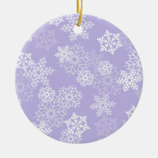 Purple Snowflakes Christmas Ornament