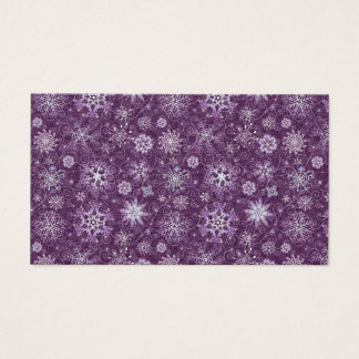 Purple Snowflakes for Chronic Pain Business Card