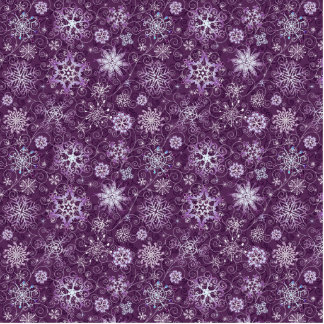 Purple Snowflakes for Chronic Pain Cutout