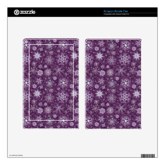 Purple Snowflakes for Chronic Pain Kindle Fire Decals