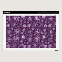 Purple Snowflakes for Chronic Pain Laptop Decals