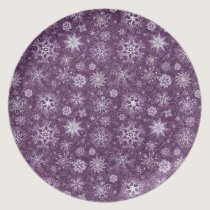Purple Snowflakes for Chronic Pain Melamine Plate