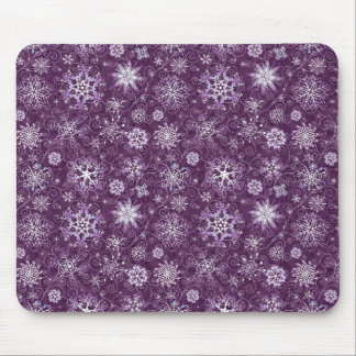 Purple Snowflakes for Chronic Pain Mouse Pad