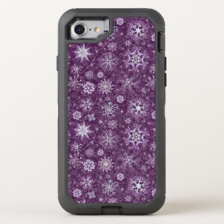 Purple Snowflakes for Chronic Pain OtterBox Defender iPhone 7 Case