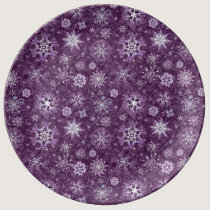 Purple Snowflakes for Chronic Pain Plate