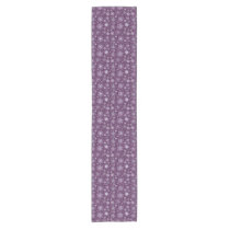 Purple Snowflakes for Chronic Pain Short Table Runner