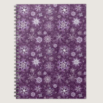 Purple Snowflakes for Chronic Pain Spiral Notebook