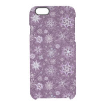 Purple Snowflakes for Chronic Pain Clear iPhone 6/6S Case