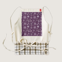 Purple Snowflakes for Chronic Pain Zazzle HEART Apron