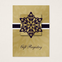 purple snowflakes Gift registry  Cards