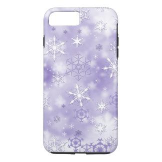 Purple Snowflakes iPhone 8 Plus/7 Plus Case