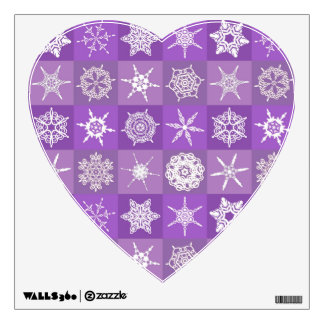 Purple Snowflakes Wall Decal