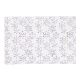Purple Snowflakes Winter Holiday Placemat