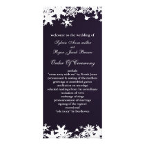 purple snowflakes winter wedding program