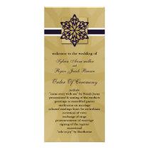 purple snowflakes winter wedding program