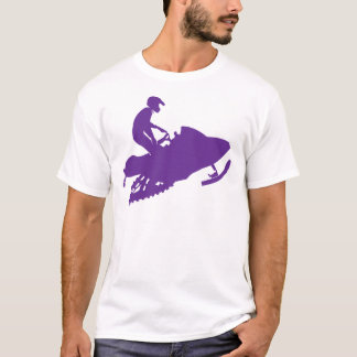 Purple-Snowmobiler T-Shirt