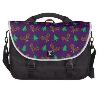 Purple snowshoe pattern commuter bags
