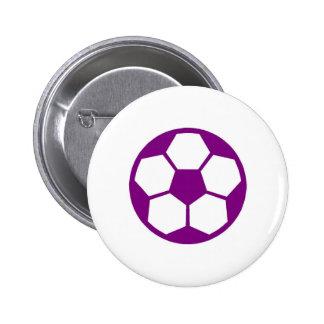 "Purple ""SOCCER BALL"" image Button"