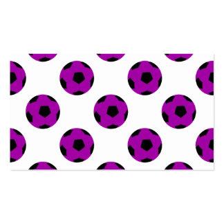 Purple Soccer Ball Pattern Business Card