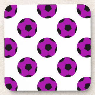 Purple Soccer Ball Pattern Coaster