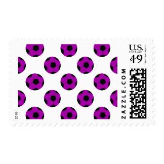 Purple Soccer Ball Pattern Postage Stamp
