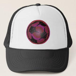 PURPLE SOCCER BALL TRUCKER HAT