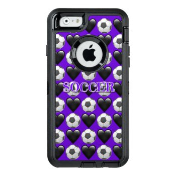 Purple Soccer Iphone 6/6s Otterbox Case by BryBry07 at Zazzle