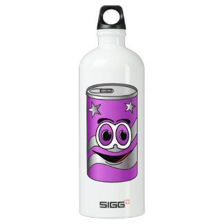 Purple Soda Can Cartoon Water Bottle