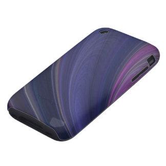 Purple Soft Sand Waves Tough iPhone 3 Case