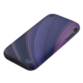 Purple Soft Sand Waves iPhone 3 Tough Case