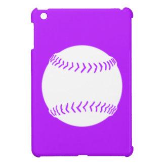 Purple Softball Silhouette iPad Mini Case