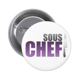 Purple Sous Chef Pinback Button