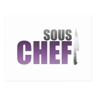 Purple Sous Chef Postcard