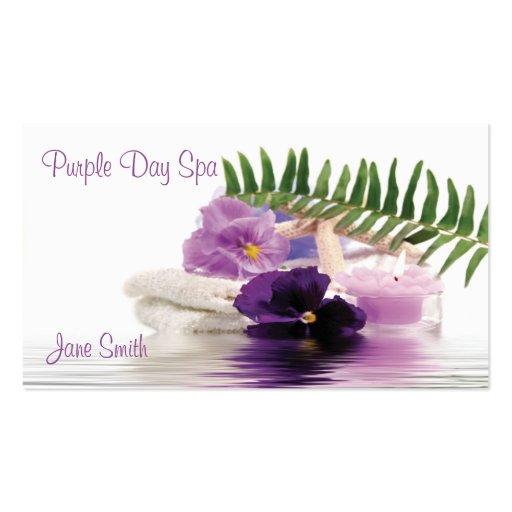 Purple Spa Business Card