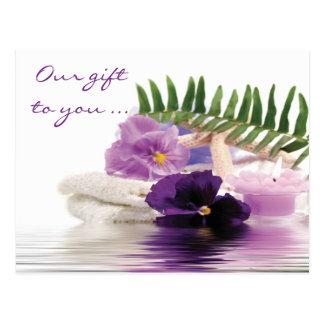 Purple Spa Postcard