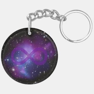 Purple Space Image Keychain
