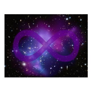 Purple Space Image Postcard