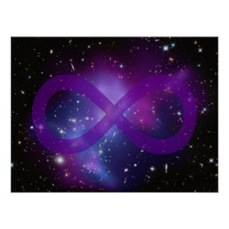 Purple Space Image Poster
