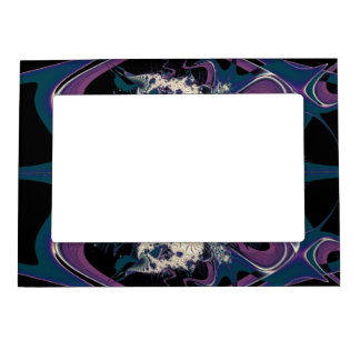 Purple Space Picture Frame Magnet