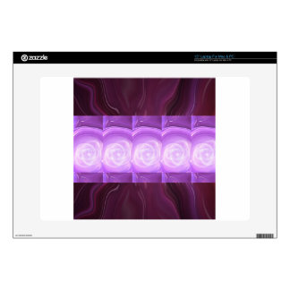 PURPLE Sparkle Flowers : Graphic Creation GIFTS Skin For Laptop