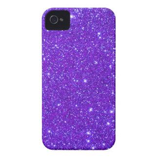 Purple Sparkle Glitter Custom Design Your Own Case-Mate iPhone 4 Case