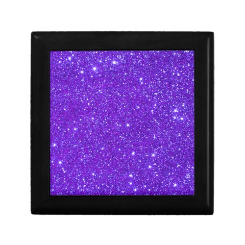 Purple Sparkle Glitter Custom Design Your Own Gift Boxes