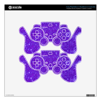 Purple Sparkle Glitter Custom Design Your Own PS3 Controller Skins