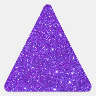 Purple Sparkle Glitter Custom Design Your Own Triangle Sticker