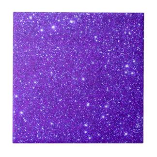 Purple Sparkle Glitter Custom Design Your Own Tile
