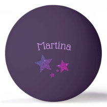 Purple Sparkle Glitter Effect Custom Ping Pong Ping Pong Ball