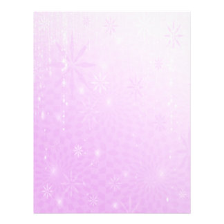Purple Sparkle Holiday Letterhead