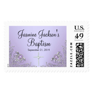 Purple Sparkle Jewel Baptism Stamp